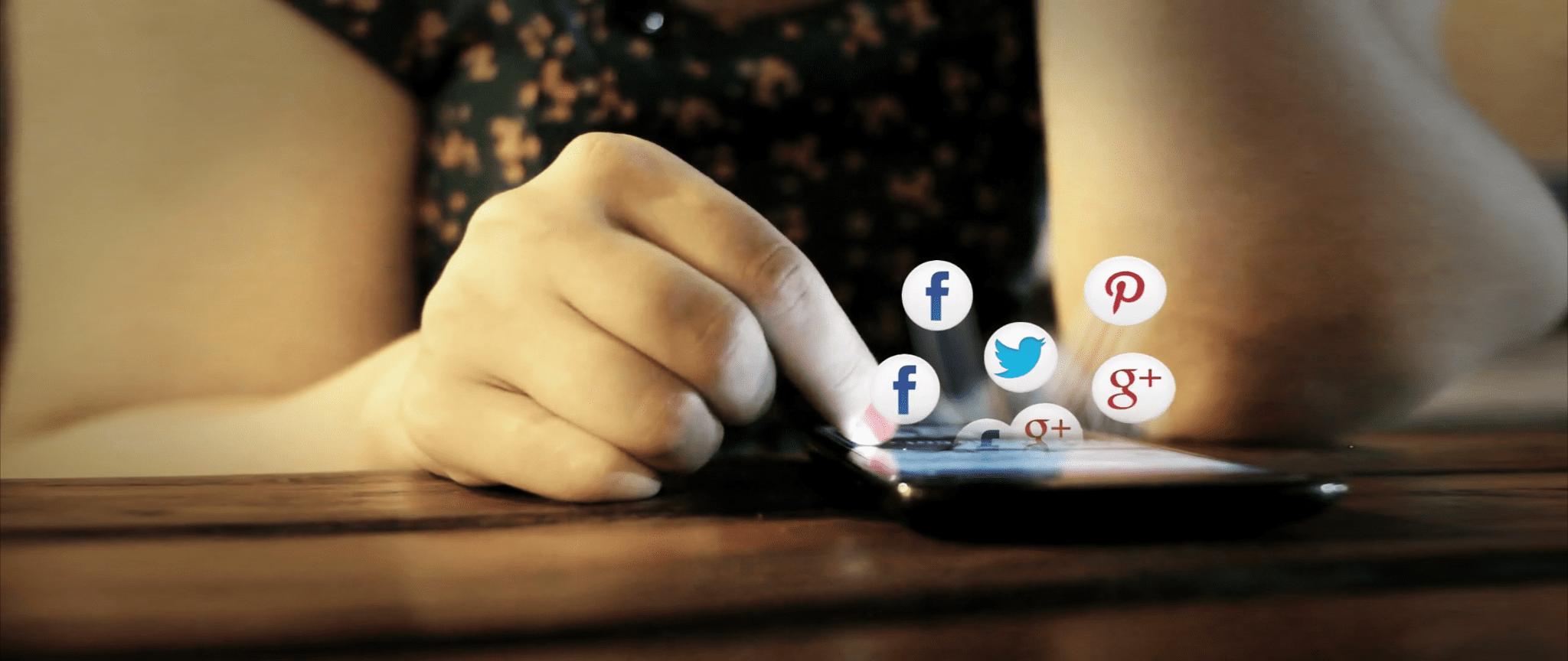 Person Going Through Social Media